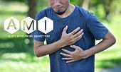 People are sick AMI Acute Myocardial Infarction,STEMI  ST Elevated Myocardial Infarction,PVC Premature Ventriular Contracture,CHF  Congestive Heart Failure poster