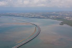 Aerial View Of Express Way To Nusa Dua Beach On Bali , Indonesia