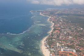 Aerial View Of Nusa Dua Beach On Bali , Indonesia