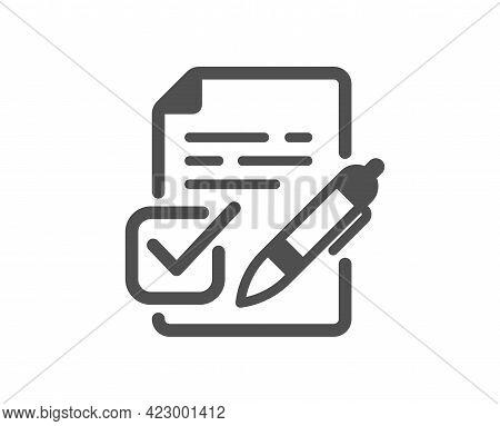Voting Ballot Paper Simple Icon. Vote Ticket Sign. Public Election Symbol. Classic Flat Style. Quali