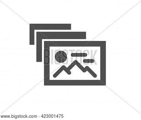 Photo Album Simple Icon. Image Thumbnail Sign. Picture Gallery Placeholder Symbol. Classic Flat Styl
