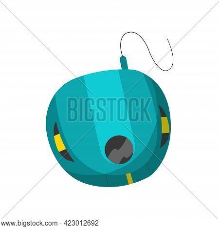 Vintage Music Object. Retro Audio Player. Color Symbol Design. Vector Illustration Design Template