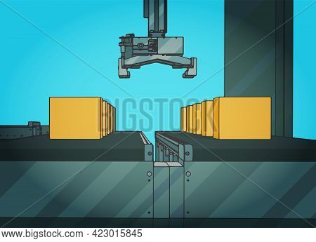 Automated Conveyor Line And Robotic Manipulator