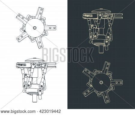 Helicopter Main Rotor Drawings