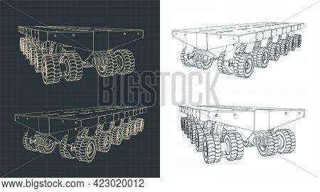 Self Propelled Modular Transporter Illustrations