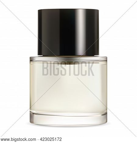 Nail Polish Bottle. Pefume Packaging, Fingernale Oil Container Template. Enamel Container Glossy Des