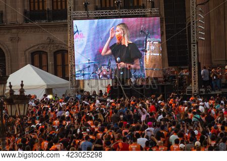 Monterrey, México, -06-07-2021-. Celebration Of The Victory Of The Governor Of The State Of Nuevo Le