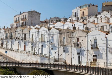 Old town in Monte Sant Angelo, Puglia, Italy