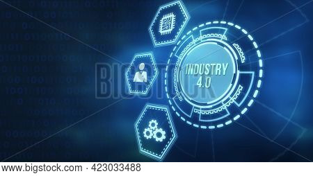 Internet, Business, Technology And Network Concept.industry 4.0 Cloud Computing, Physical Systems, I