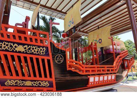 Hoi An, Vietnam, May 23, 2021: Merchant Ship Commemorating The Marriage Of Princess Ngoc Hoa To The