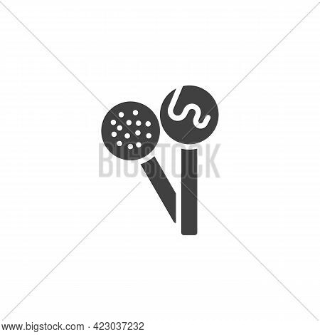 Lollipop Candy Vector Icon. Filled Flat Sign For Mobile Concept And Web Design. Lollipops On Stick G