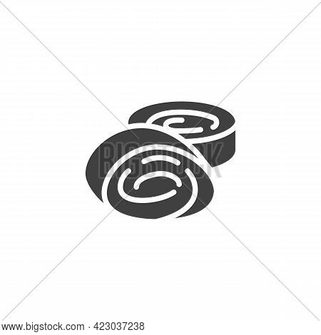 Turkish Delight Vector Icon. Filled Flat Sign For Mobile Concept And Web Design. Lokum Sweets Glyph