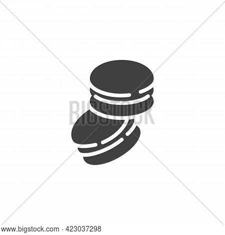 Macaron Cake Vector Icon. Filled Flat Sign For Mobile Concept And Web Design. French Macaroon Glyph