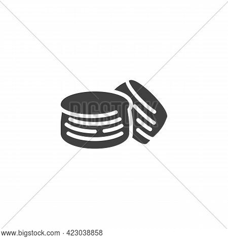 Crepes Bread Vector Icon. Filled Flat Sign For Mobile Concept And Web Design. Pancakes Glyph Icon. S