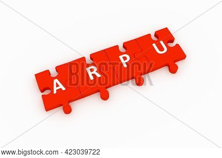 Arpu Puzzle Concept White Background 3d Render Illustration