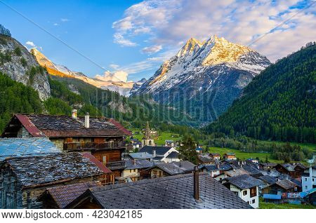 Evolene Is A Village In The Valley Of Herens In The French-speaking Part Of The Canton Of Valais In