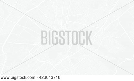 White And Light Grey Athens City Area Vector Background Map, Streets And Water Cartography Illustrat