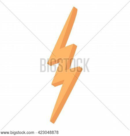 Social Network Chatting Fast Bolt Icon. Cartoon Of Social Network Chatting Fast Bolt Vector Icon For