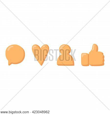 Social Network Online Reaction Icon. Cartoon Of Social Network Online Reaction Vector Icon For Web D