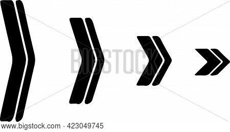Triangle Arrow Icon On White Background , Symbol, Theory, Three