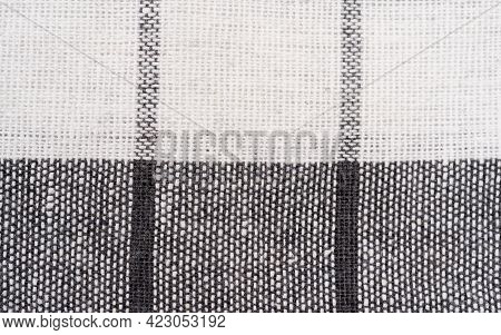 Closeup Of A Red And White Checkered Napkin Or Tablecloth Texture Isolated For Background Kitchen Ac