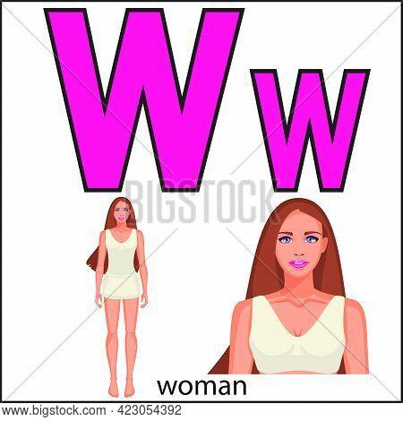 Woman W, Letter W