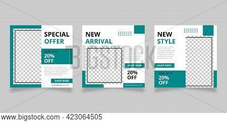 Modern Promotion Square Web Sale Banner For Social Media Mobile Apps