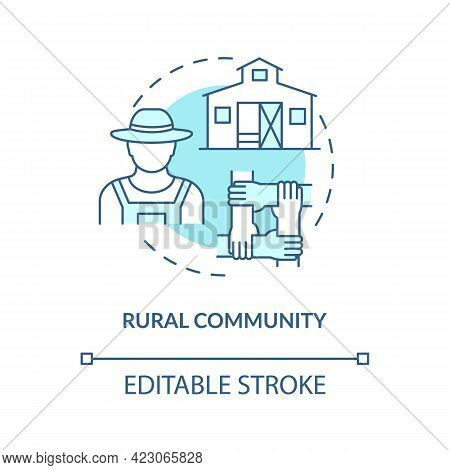 Rural Community Concept Icon. Communities Types Abstract Idea Thin Line Illustration. Country Life.