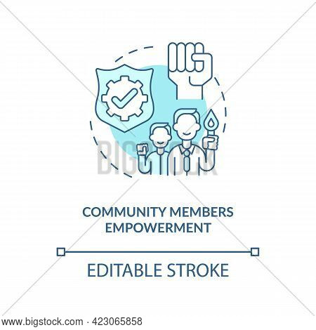 Community Members Empowerment Concept Icon. Developing Civic Engagement Skills Abstract Idea Thin Li