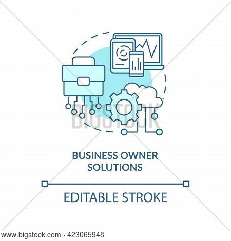 Business Owner Solutions Concept Icon. Community Development Abstract Idea Thin Line Illustration. A