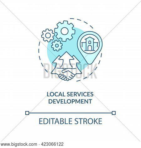 Local Services Development Concept Icon. Community Change Strategy Abstract Idea Thin Line Illustrat
