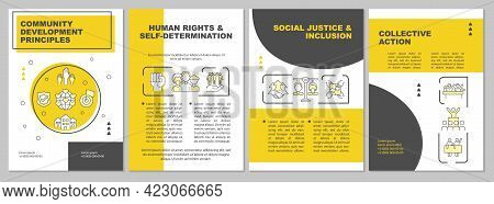 Social Group Development Principles Brochure Template. Flyer, Booklet, Leaflet Print, Cover Design W
