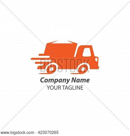 Fast Delivery Truck Logo Cargo Design Vector Template.eps 10