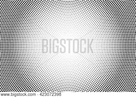 Halftone Effect. With Black Polka Dots. Geometric Texture