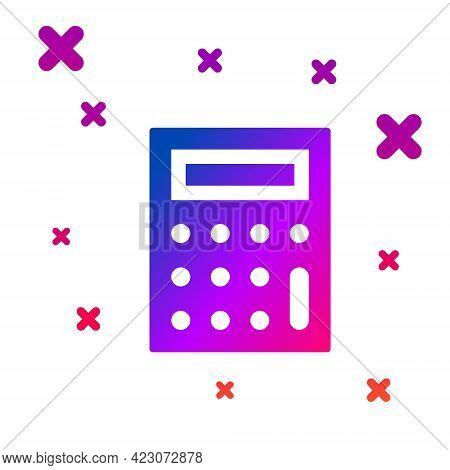 Color Calculator Icon Isolated On White Background. Accounting Symbol. Business Calculations Mathema