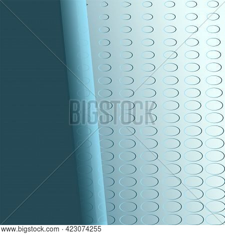Paper With A Rolled Edge - Abstract Contrasting Background - Vector.