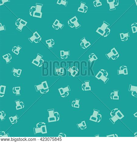 Green Petrol Or Gas Station Icon Isolated Seamless Pattern On Green Background. Car Fuel Symbol. Gas