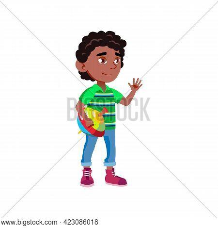 Cute Boy Playing With Humming Top Cartoon Vector. Cute Boy Playing With Humming Top Character. Isola