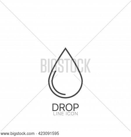 Water Drop Outline Vector Icon Flat Droplet Logo Shapes Collection