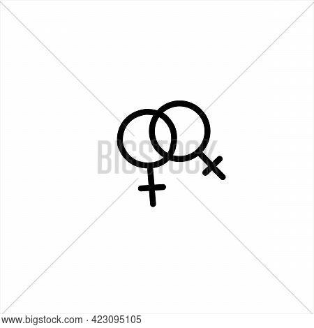 Female Gender Symbols Hand Drawn Outline Doodle Icon. Sex And Gender Diversity Concept. Symbol Lgbt,