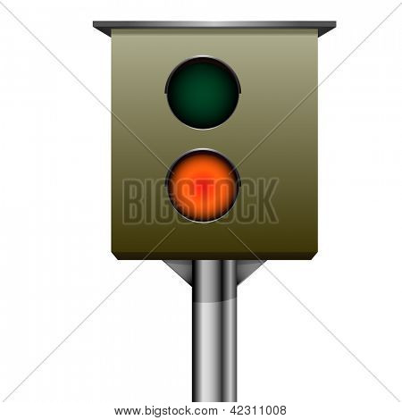 detailed illustration of traffic speed camera, eps 10