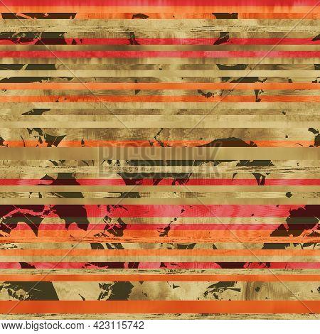 Seamless Hip Vogue Random Trendy Stripe Pattern Print