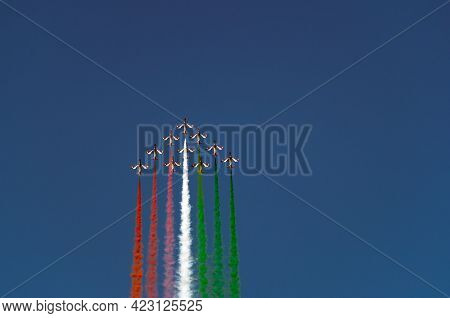 Air Show Frecce Tricolori 2019 A Punta Marina, Ravenna, Italy, 2019-06-23