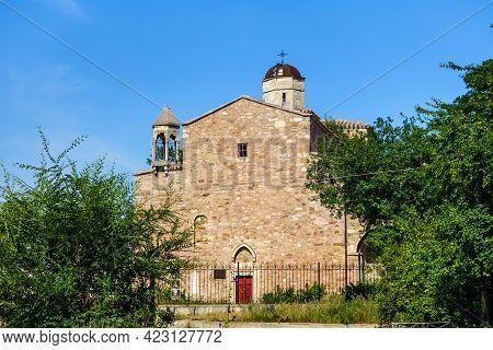 Armenian Church Of Archangels Michael & Gabriel, Feodosia, Crimea. It Was Built In Xiv Century. Thou