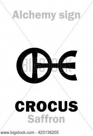 Alchemy Alphabet: Crocus / Saffron -- Metallic Solid Substances Of Yellow Or Reddish Color, Powdered