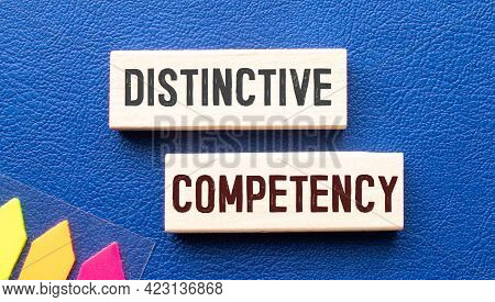 Business Term With Climbing Chart, Graph - Distinctive Competency