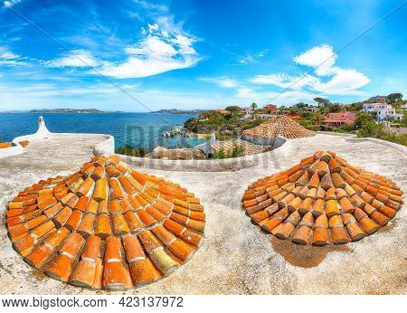 Captivating View Of  Porto Rafael Resort. Awesome Tiled Roof Of Traditional Houses. Location: Porto