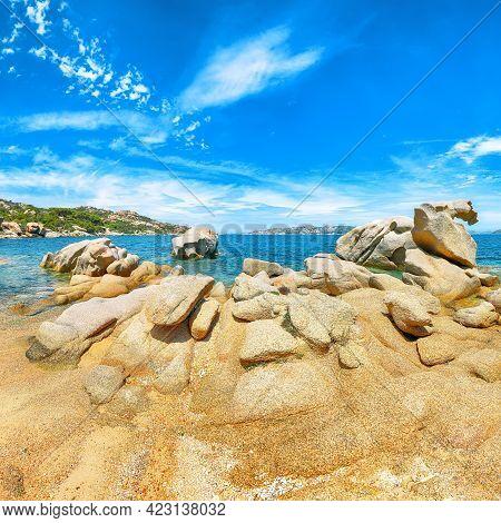 Astonishing View Of  Beach On Porto Rafael Resort. Picturesque Seascape Of Mediterranean Sea. Locati