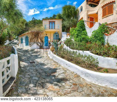 Astonishing View Of  Porto Rafael Resort . Picturesque Houses Of Sardinia. Location: Porto Rafael, O