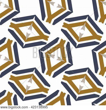Masculine Geometric Seamless Pattern. Classic Retro Geo Shape For Digital Scrapbook Paper And Repeat